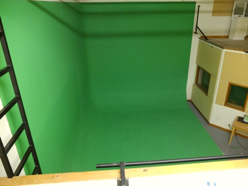 Green screen painted 10-2013