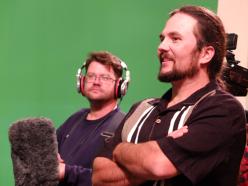 Jason Marion recording audio & Jason Foreman plays Rusty