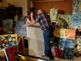 Scene 5 - Rose and John debate the BIG Painting - Tiffany Patch John Daws