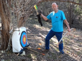 John gets all (well most) of his arrows in the target.