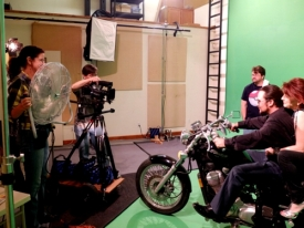 Andrea Ballentine, Rodger Marion, Jason Marion, Jason Foreman & Tiffany Patch... cruisin' the green screen.