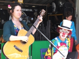 Troubadours and Clowns (Amanda Mora, Lee Epstein as Eppy the Clown and Mollie Rose)