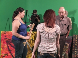 Celeste Coburn, Rodger Marion, Tiffany Patch, John Daws and Carla Daws... getting set for scene 7