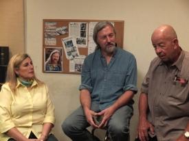 Sarah Pennington listens as Jay Penninton and John Daws discuss Rusty's fate