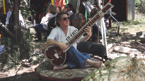 Before - Sitar with microphone