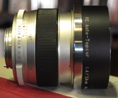 Topcor 58 mm f1.4 lens 2