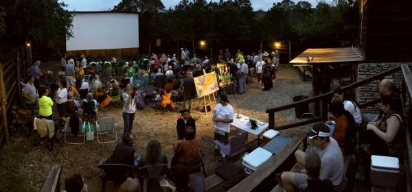 Panoramic photo of premiere