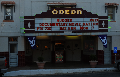 Odeon Nudged on marquee
